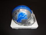Calvin Johnson Detroit Lions Autographed Riddell Mini Helmet w/GA coa