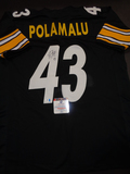 Troy Polamalu Pittsburgh Steelers Autographed Custom Home Black Style Jersey w/GA coa