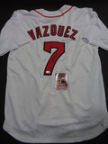 Christian Vazquez Boston Red Sox Autographed Custom Home White Jersey w/JSA W coa