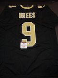 Drew Brees New Orleans Saints Autographed Custom Home Black Style Jersey w/GA coa