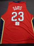 Anthony Davis New Orleans Pelicans Autographed Custom Home Red Style Jersey w/GA coa