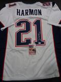 Duron Harmon New England Patriots Autographed Custom Road White Style Jersey w/JSA W coa