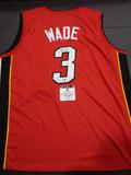 Dwayne Wade Miami Heat Autographed Custom Home Red Style Jersey w/GA coa