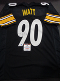 T.J. Watt Pittsburgh Steelers Autographed Custom Home Black Style Jersey w/GA coa