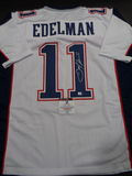 Julian Edelman New England Patriots Autographed Custom Road White Style Jersey w/GA coa
