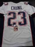 Patrick Chung New England Patriots Autographed Custom Road White Style Jersey w/JSA W coa