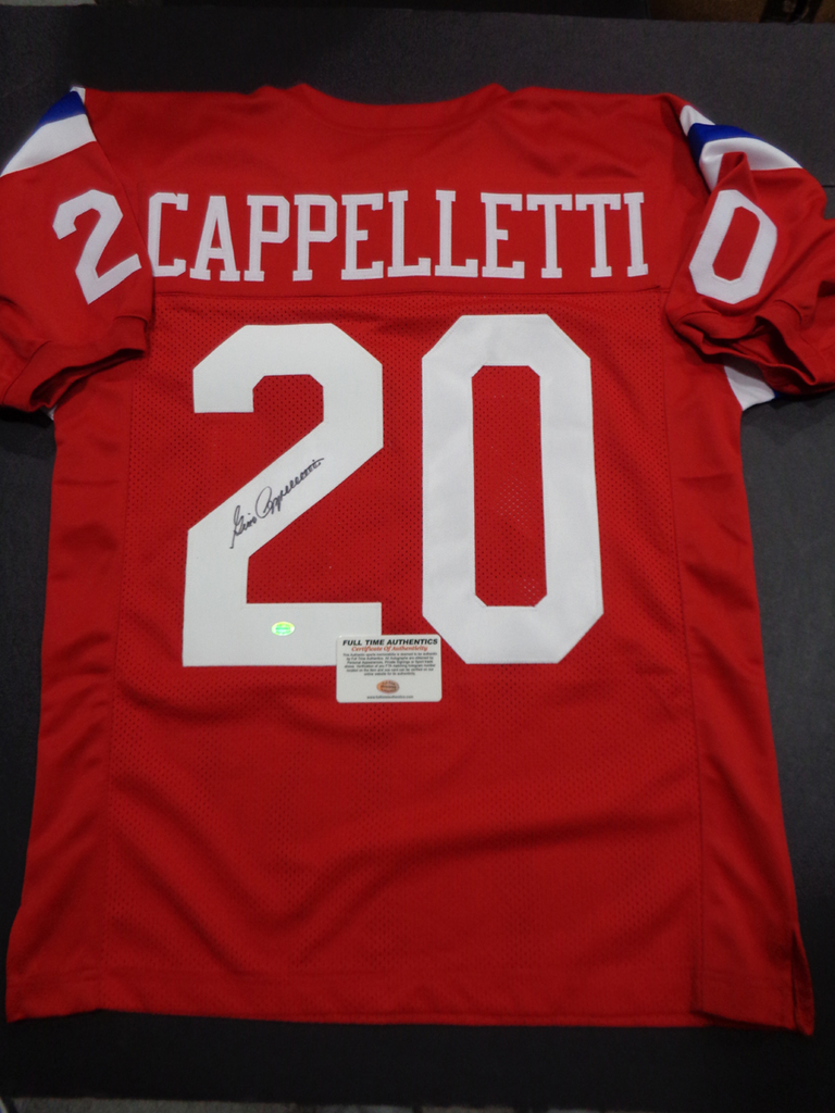 the best attitude a0d9d 105d3 Lot: Gino Cappelletti New England Patriots Autographed ...