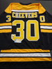 Gerry Cheevers Boston Bruins Autographed Custom White Jersey w/Cheevers Sticker, Full Time coa