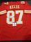 Travis Kelce Kansas City Chiefs Autographed Custom Red Style Jersey w/GA coa