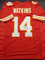 Sammy Watkins Kansas City Chiefs Autographed Custom Red Style Jersey w/GA coa