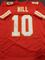 Tyreek Hill Kansas City Chiefs Autographed Custom Red Style Jersey w/GA coa