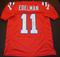 Julian Edelman New England Patriots Autographed Custom Red Style Jersey w/GA coa