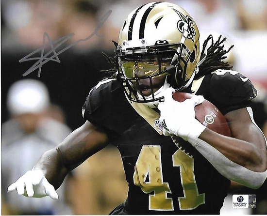 Alvin Kamera New Orleans Saints Autographed 8x10 Running Photo w/GA coa