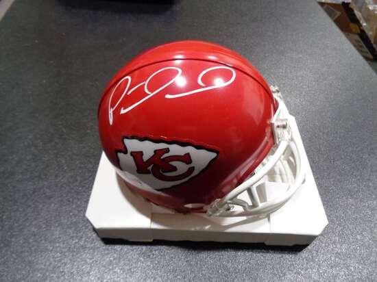 Patrick Mahomes Kansas City Chiefs Autographed Riddell Mini Helmet w/GA coa