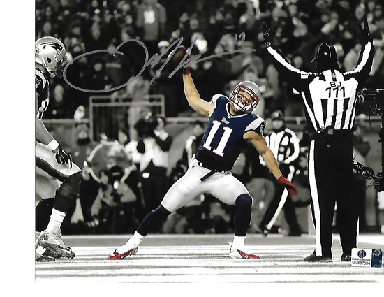Julian Edelman New England Patriots Autographed 8x10 Spotlite Spike Photo w/GA coa