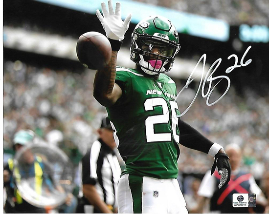 LeVeon Bell New York Jets Autographed 8x10 Photo w/GA coa