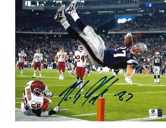 Rob Gronkowski New England Patriots Autographed 8x10 FLIP Photo w/GA coa
