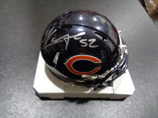 Khalil Mack Chicago Bears Autographed Riddell Mini Helmet w/GA coa