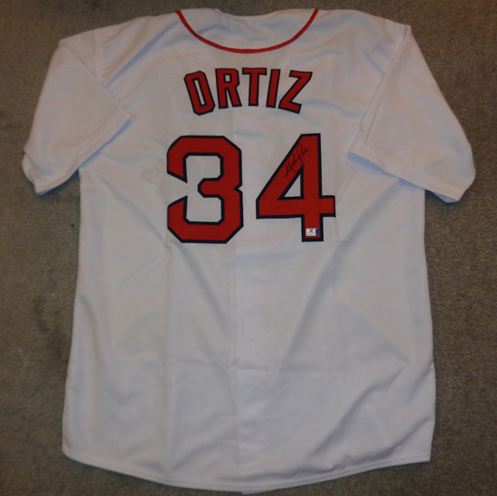 David Ortiz Boston Red Sox Autographed Custom White Jersey w/GA coa