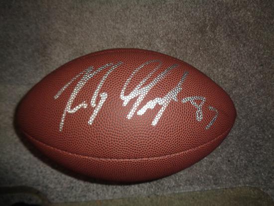 Rob Gronkowski New England Patriots Autographed Wilson Football w/ GA coa