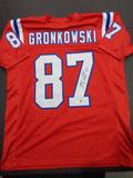Rob Gronkowski New England Patriots Autographed Custom Red Style Jersey w/GA coa
