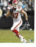 Travis Kelce Kansas City Chiefs Autographed 8x10 Photo w/GA coa White Auto