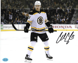 Charlie Coyle Boston Bruins Autographed 8x10 Road White Photo w/Full Time coa