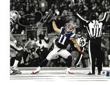 Julian Edelman New England Patriots Autographed 8x10 Spotlite Spike Photo w/GA coa