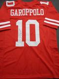 Jimmy Garoppolo San Francisco 49ers Autographed Custom Red Style Jersey w/GA coa