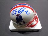 Rob Gronkowski New England Patriots Autographed Riddell Throwback Mini Helmet w/GA coa
