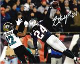 Stephon Gilmore New England Patriots Autographed 8x10 vs Jaguars Photo w/GA coa