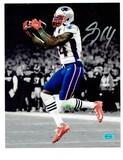 Mohamed Sanu Sr. New England Patriots Autographed 8x10 Photo w/Full Time coa