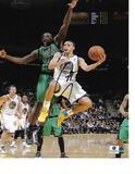 Stephen Curry Golden State Warriors Autographed 8x10 Vs. Celtics Photo w/GA coa