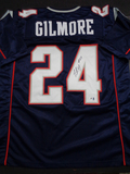Stephon Gilmore New England Patriots Autographed Custom Blue Jersey w/GA coa