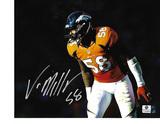 Von Miller Denver Broncos Autographed 8x10 Blackout Photo w/ GA coa