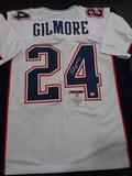 Stephon Gilmore New England Patriots Autographed Custom White Jersey w/GA coa