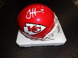 Tyreek Hill Kansas City Chiefs Autographed Riddell Mini Helmet w/GA coa