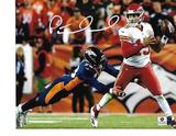 Patrick Mahomes Kansas City Chiefs Autographed 8x10 Under Pressure Photo w/GA coa