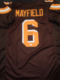 Baker Mayfield Cleveland Browns Autographed Custom Brown Style Jersey w/GA coa