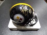 Troy Polamalu Pittsburgh Steelers Autographed Riddell Mini Helmet w/GA coa