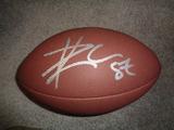 Travis Kelce Kansas City Chiefs Autographed Wilson Football w/GA coa