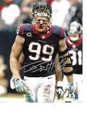 J.J. Watt Houston Texans Autographed 8x10 Bloody Face Photo w/GA coa