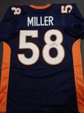 Von Miller Denver Broncos Autographed Riddell Custom Blue Style Jersey w/GA coa