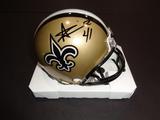 Alvin Kamera New Orleans Saints Autographed Riddell Mini Helmet w/GA coa