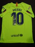 Lionel Messi Barcelona Autographed Custom Soccer Jersey w/GA coa