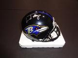 Lamar Jackson Baltimore Ravens Autographed Riddell Mini Helmet w/GA coa