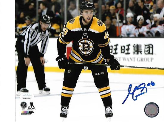 Matt Gryelcyk Boston Bruins Autographed 8x10 Home Black Photo w/JSA WITNESSED COA
