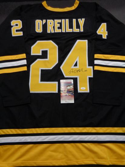Terry O'Reilly Boston Bruins Autographed Custom Road Black Hockey Style Jersey w/JSA W coa