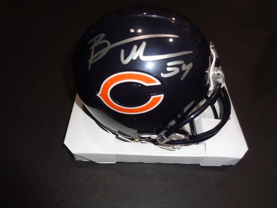 Brian Urlacher Chicago Bears Autographed Riddell Mini Helmet w/GA coa