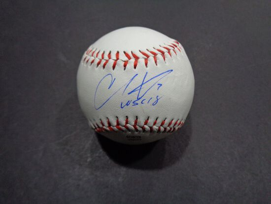 Christian Vazquez Boston Red Sox Autographed Rawlings Baseball w/Full Time coa